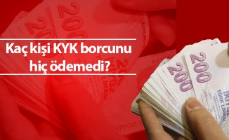 Kaç kişi KYK borcunu hiç ödemedi?