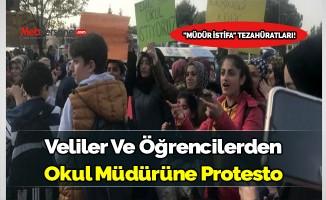 Sancaktepe'de veliler ve öğrenciler, okul müdürünü protesto etti