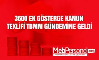 3600 Ek Gösterge Kanun Teklifi TBMM'de