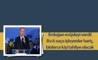 Erdoğan müjdeyi verdi! Bu 6 suçu işleyenler hariç, binlerce kişi tahliye olacak
