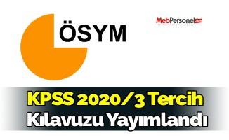KPSS 2020/3 Tercih  Kılavuzu Yayımlandı