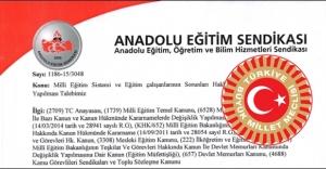 AES#039;in Öğretmenler Adına Önemli...