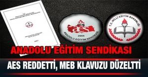 AES Reddetti, MEB Klavuzu Düzeltti