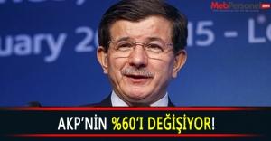 AKPnin Yüzde 60ı Değişiyor