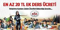 Anadolu Eğitim Sen:Ek Dersler Minumum 20 TL Olsun
