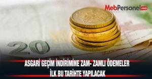 ASGARİ GEÇİM İNDİRİMİNE ZAM-...