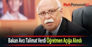 Bakan Avcı Talimat Verdi Öğretmen...