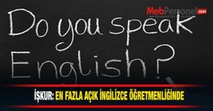 İşkur: En fazla açık İngilizce...