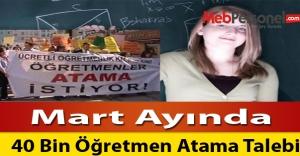 Mart Ayında 40 Bin Öğretmen Atama Talebi