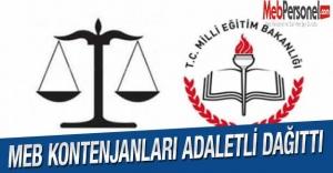 MEB Kontenjanları Adaletli Dağıttı