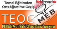 MEB Nabi Avcı : Telafisi Olmayan Sınav Yapmıyoruz