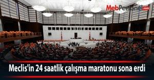 Meclis#039;in 24 saatlik çalışma maratonu...