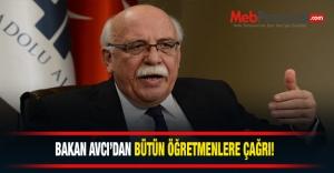 Millî Eğitim Bakanı Nabi AVCI,öğretmenleri...
