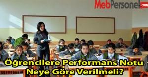 Öğrencilere Performans...