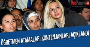 Öğretmen Atama Kontenjanları Açıklandı