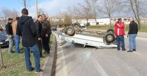 Öğretmen trafik kazası geçirdi: 1 yaralı