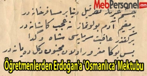 Öğretmenlerden Erdoğana Osmanlıca  Dersi İçin Mektup