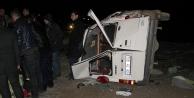 Öğretmenleri taşıyan minibüs şarampole devrildi: 11 yaralı