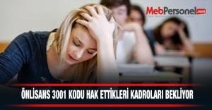ÖNLİSANS 3001 KODU HAK ETTİKLERİ...
