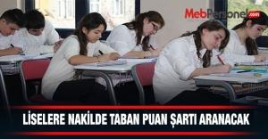 Ortaöğretim Kurumları Nakillerinde Taban Puan Şartı Aranacak