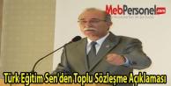 Türk Eğitim Sen'den Toplu Sözleşme Açıklaması