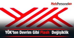 YÖKten Devrim Gibi Flash Değişiklik