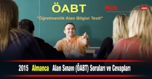 2015  Almanca  Alan Sınavı (ÖABT) Soruları ve Cevapları
