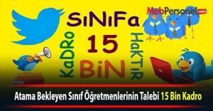 Atama Bekleyen Sınıf Öğretmenlerinin Talebi 15 Bin Kadro