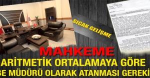 """Mahkemeden """"Şube Müdürlüğü Kadrosuna Aritmetik Ortalamaya Göre Atama Yapılması Gerekirdi"""" Kararı"""