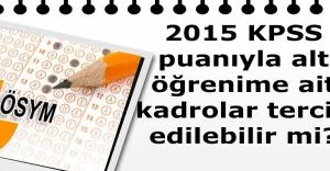 2015 KPSS puanıyla,...