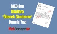 MEB'den Okullara ''Ödenek Gönderme'' Konulu Yazı