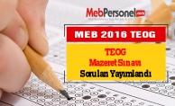 TEOG Mazeret Sınavı Soruları Yayımlandı