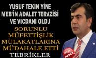 Müsteşar Yusuf Tekin , Sorunlu Müfettişlik Mülakatlarına Müdahale Etti ... Tebrikler