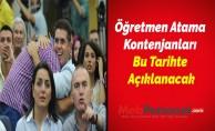 Öğretmen Atama Kontenjanları Bu Tarihte Açıklanacak