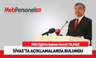 Bakan Yılmaz Sivas'ta Açıklamalarda Bulundu