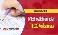 MEB Yetkililerinden TEOG Açıklaması