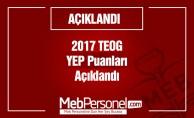 2017 TEOG YEP Puanları Açıklandı