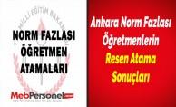 Ankara Norm Fazlası Öğretmenlerin Resen Atama Sonuçları