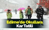 Edirne'de Okullara Kar Tatili