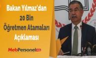 Bakan Yılmaz'dan ''20 Bin Öğretmen Atamaları'' Açıklaması