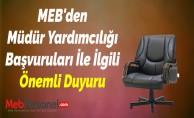 MEB'den Müdür Yardımcılığı Başvuruları İle İlgili Önemli Duyuru