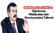 Sözleşmeli Öğretmen Atamaları Mülakatları İçin Müsteşar Yusuf Tekin'den Talimat