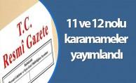11 ve 12 nolu kararnameler yayımlandı