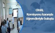OHAL Komisyonu kararıyla öğrencileriyle buluştu