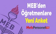 MEB'den Öğretmenlere Yeni Anket