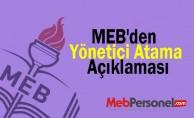 MEB'den Yönetici Atama Açıklaması