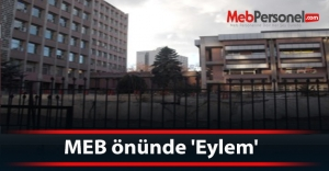 MEB önünde 'Eylem'