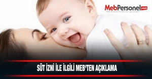 Süt İzni İle İlgili MEB'den Açıklama