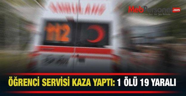 TIR ile servis çarpıştı: 1 öğrenci ölü, 19 yaralı