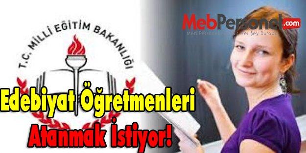 Türk Dili ve Edebiyatı Öğretmenleri atanmak istiyor